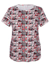 Shirt met vrouwelijke halslijn