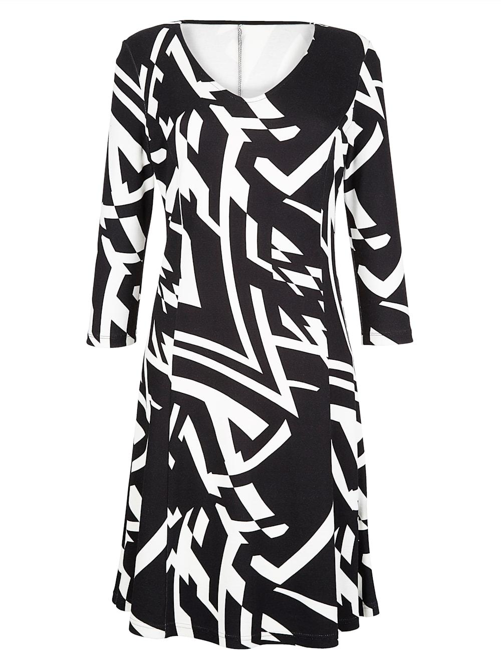 alba moda kleid mit leicht ausgestelltem rockteil | alba moda