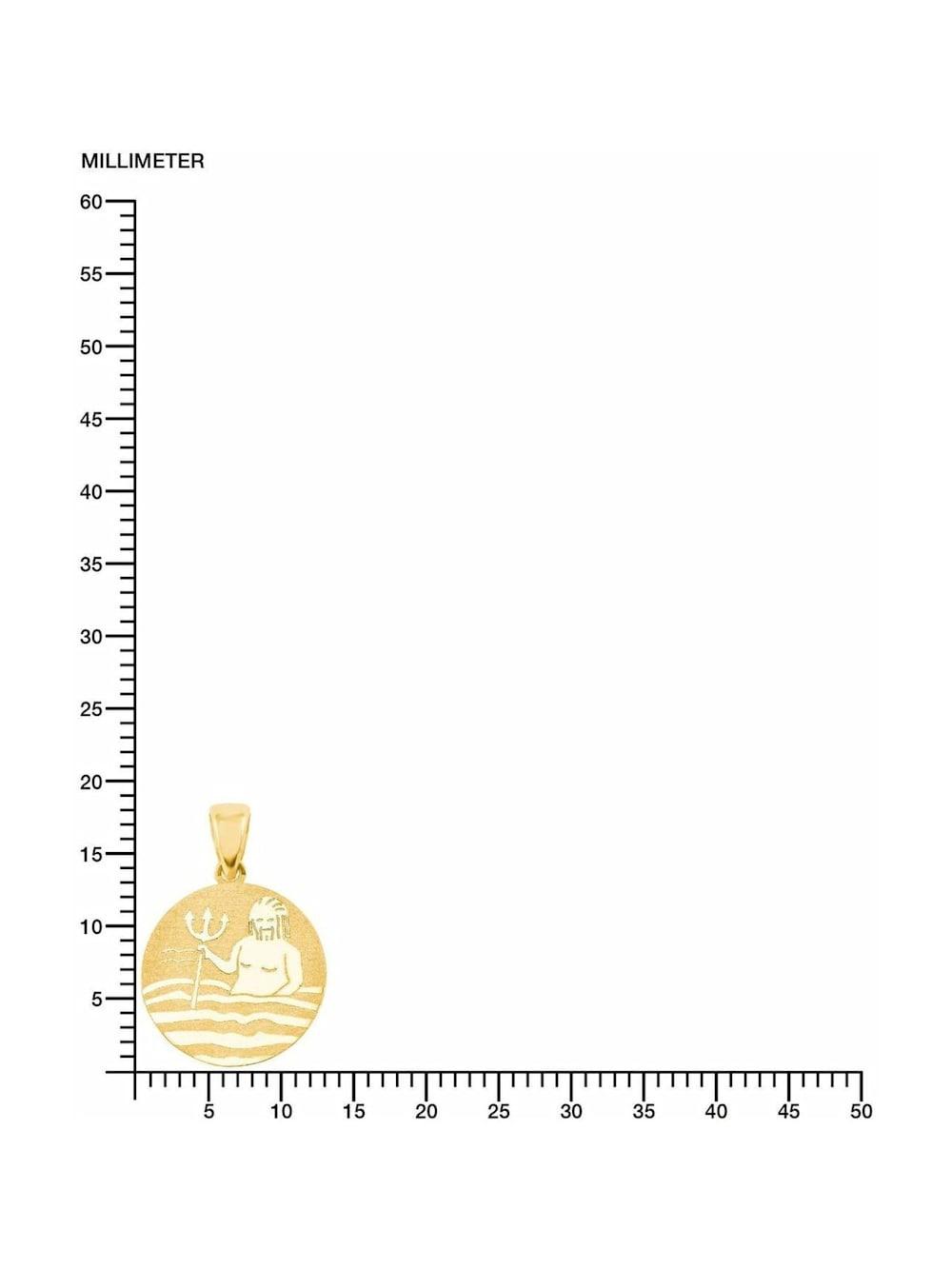 Wassermann Amor Sternzeichen M/ünzen-Anh/änger aus Gold 375 inkl Wunschgravur