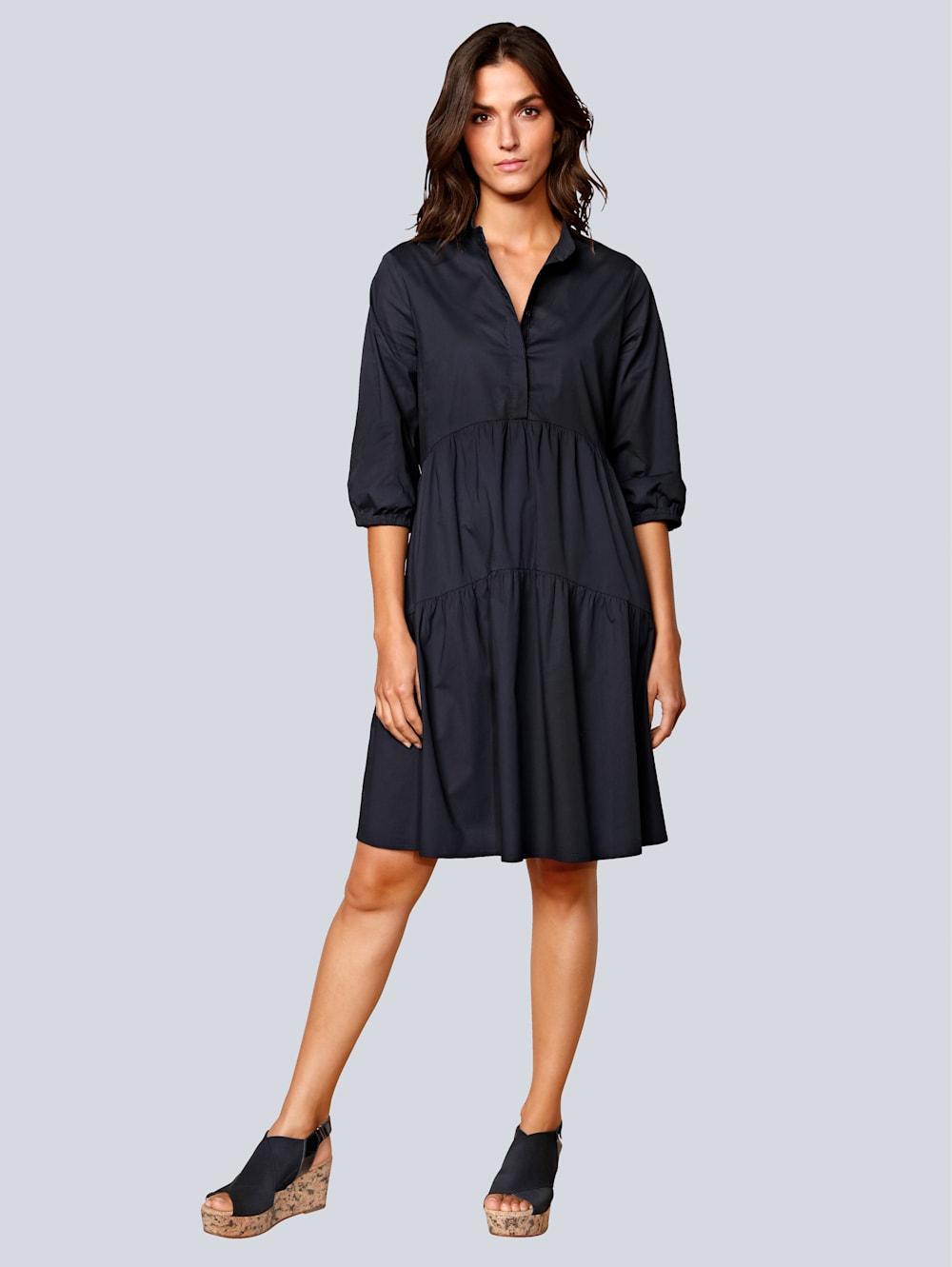 OUI Kleid mit Volants   Alba Moda