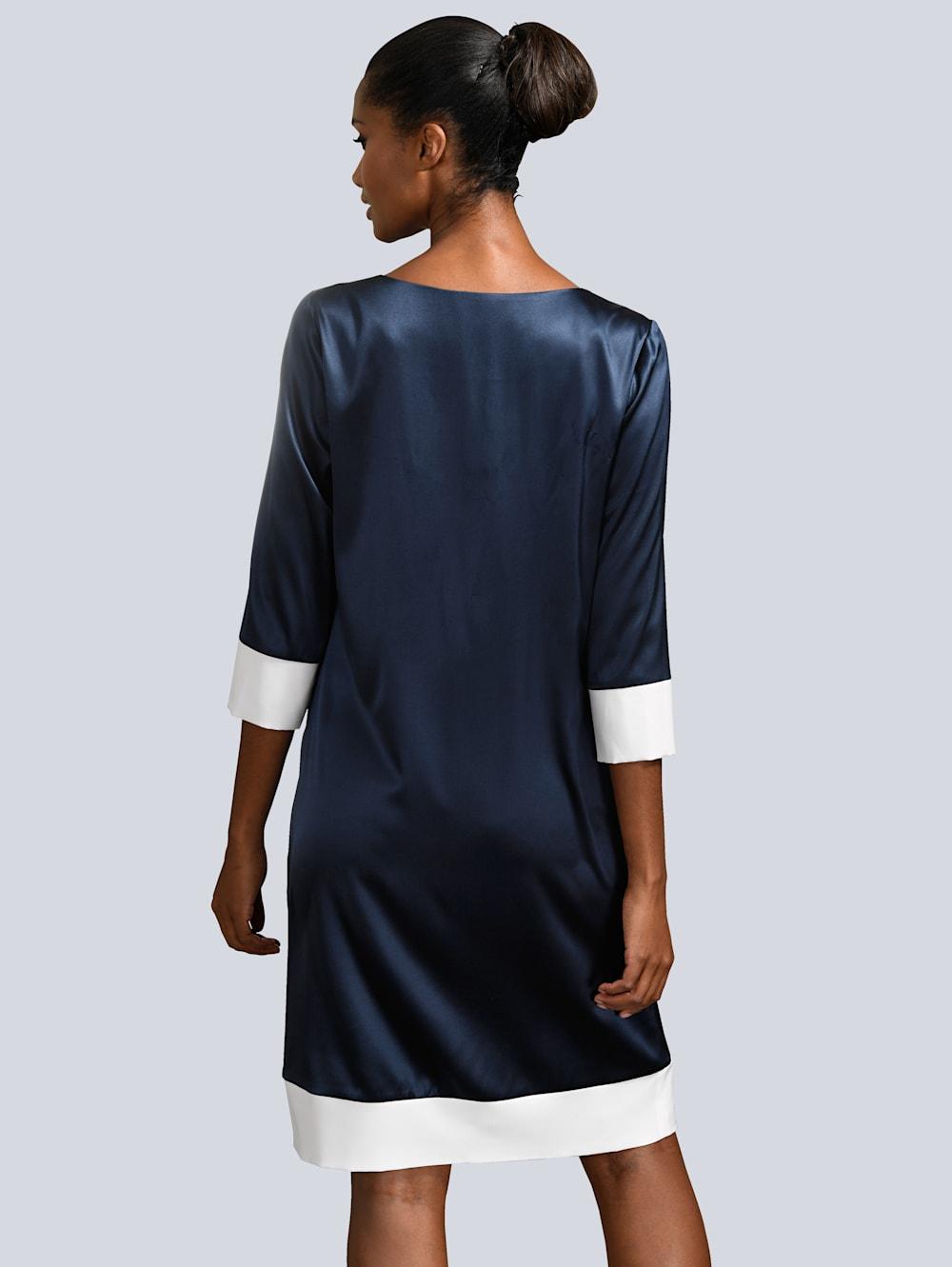 Alba Moda Kleid mit kontrastfarbenen Blenden  Alba Moda