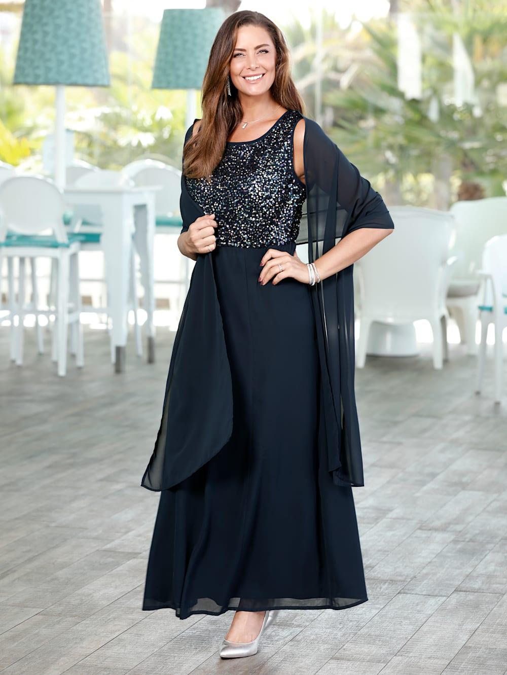 MIAMODA Abendkleid mit edler Stola aus Chiffon  Mia Moda