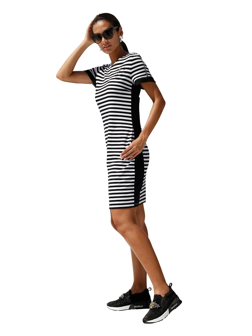 betty barclay kleid mit streifendruck | wenz