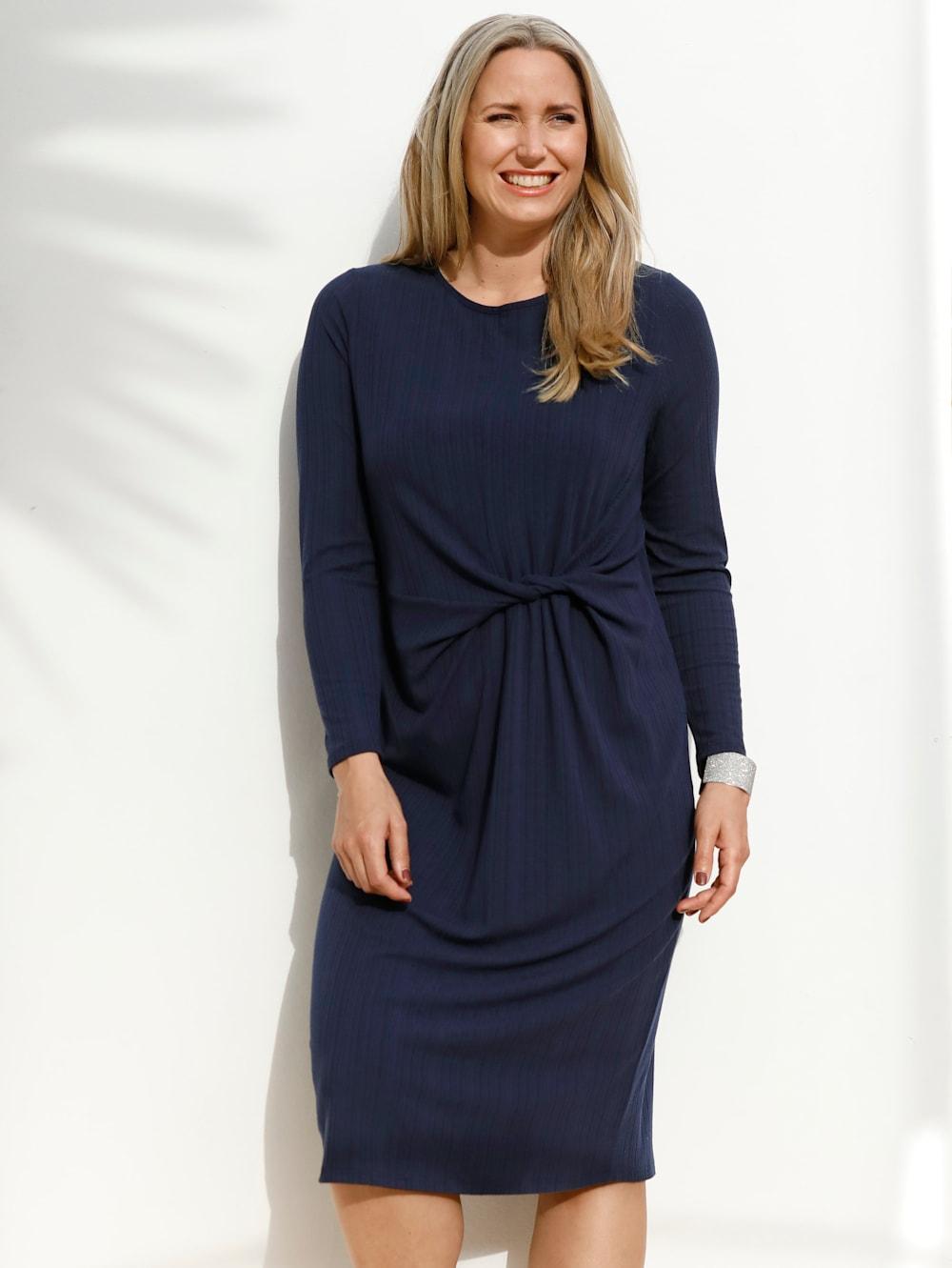 MIAMODA Jerseykleid mit Knotendetail in der Taille  Mia Moda