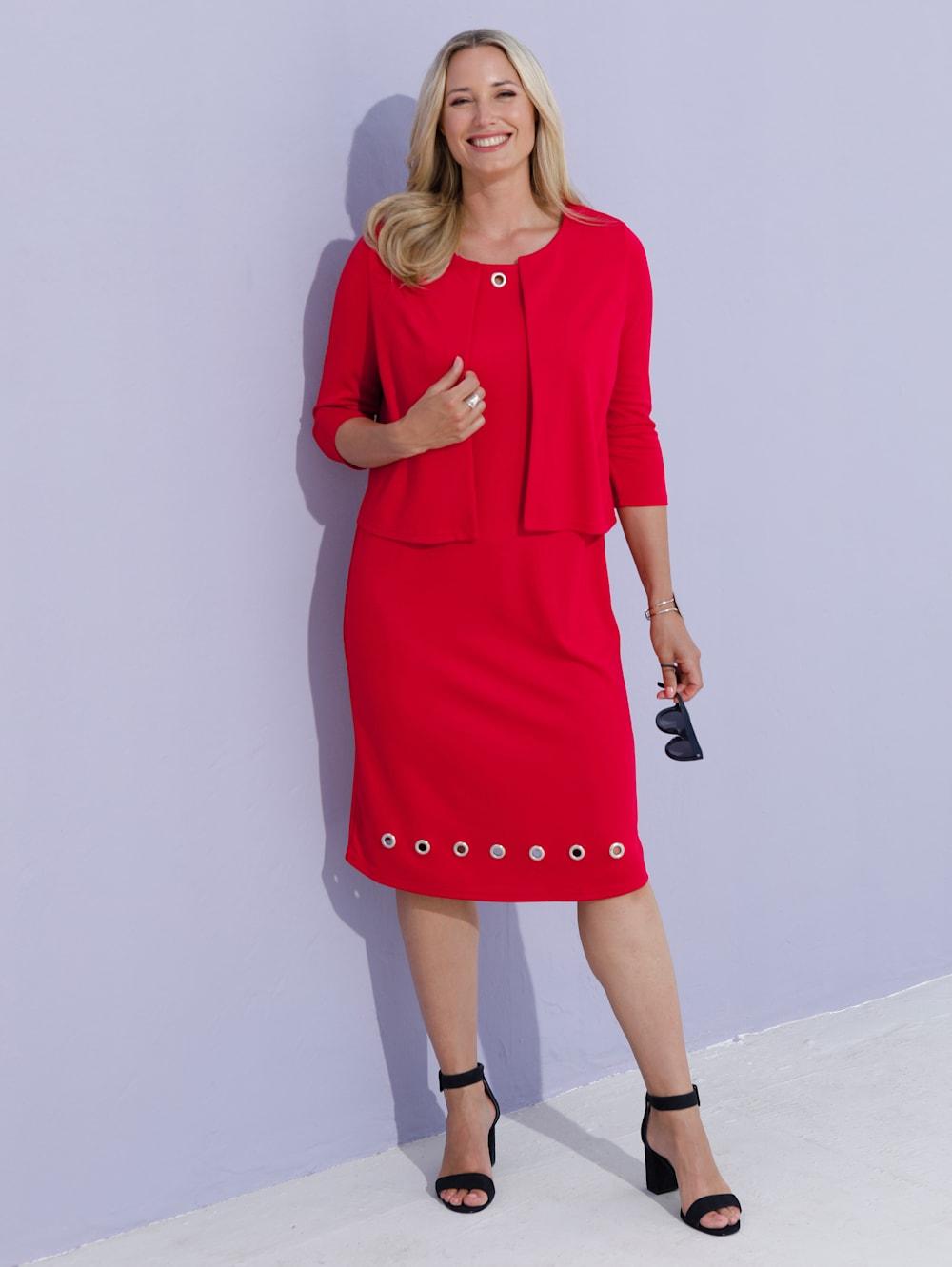 MIAMODA Blazer und Kleid Kleid mit modischen Ösen  Mia Moda