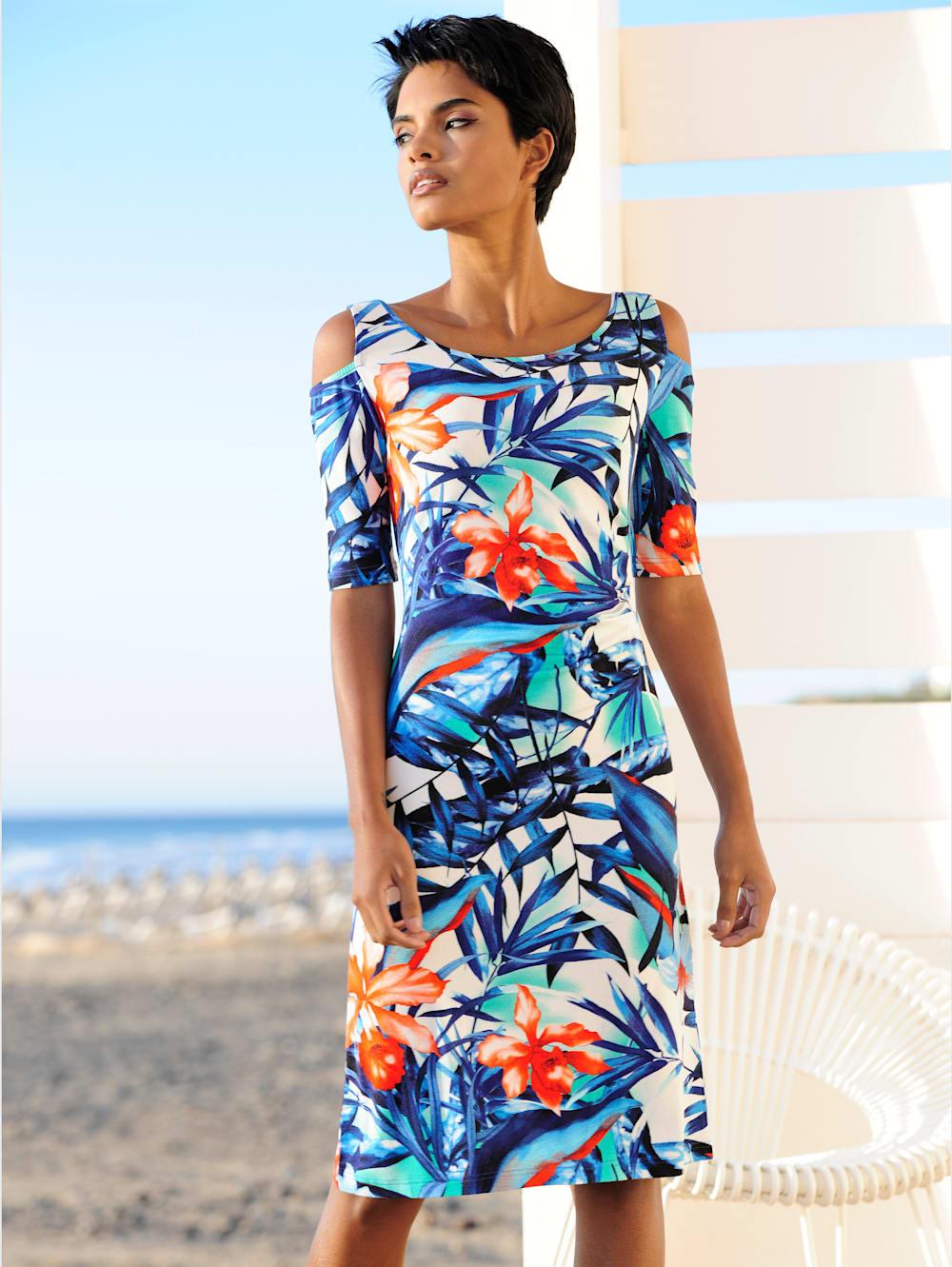 alba moda strandkleid im cold-shoulder-style | wenz
