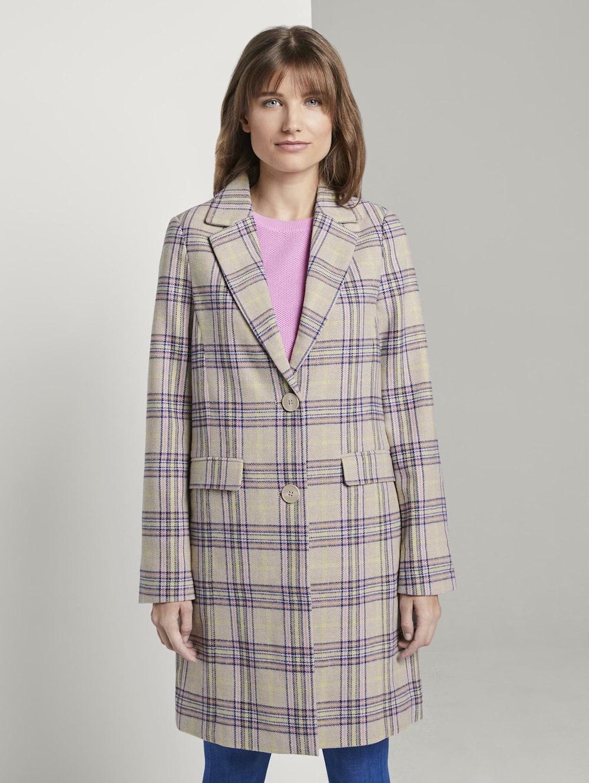 Tom Tailor Denim Taillierter Mantel im Karo Muster | Klingel