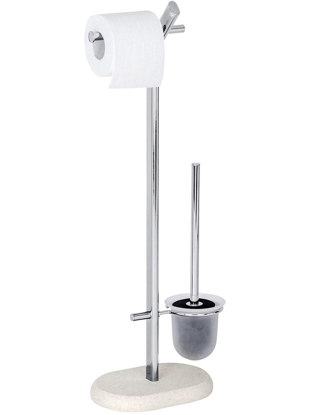 WENKO Stand WC-Garnitur Harbor Schwarz Edelstahl   WC  Stand-Toilettenbürste