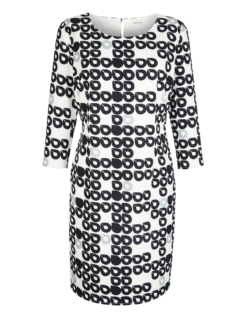 alba moda kleid im kreise-dessin allover | alba moda