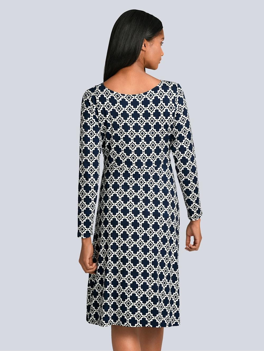 alba moda kleid mit eleganter wickeloptik im vorderteil   klingel