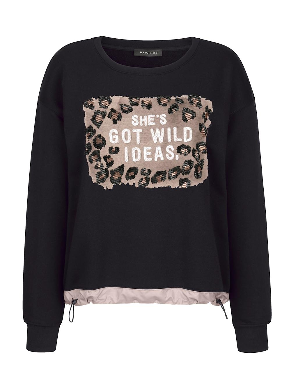 MARGITTES Sweatshirt mit Pailletten besetzt | Alba Moda