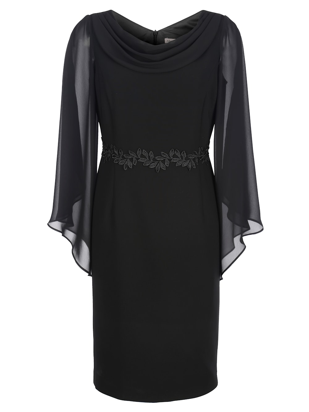 alba moda kleid mit chiffon-Ärmeln | alba moda