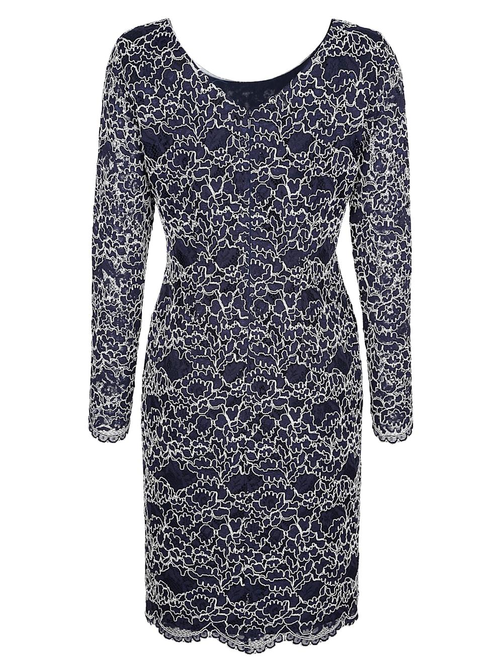 alba moda kleid mit eleganter spitze   alba moda