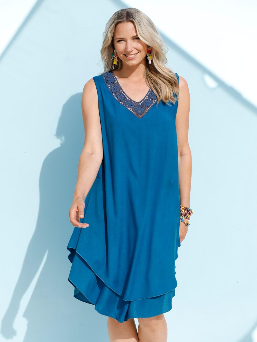 MIAMODA Kleid mit Abstufungen am Saum  Mia Moda