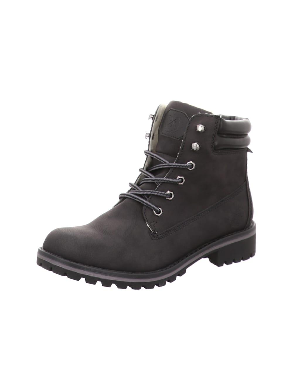 Jane Klain Damen Boots Stiefelette Strick-Optik Schnürschuh Ziernaht Schuh taupe