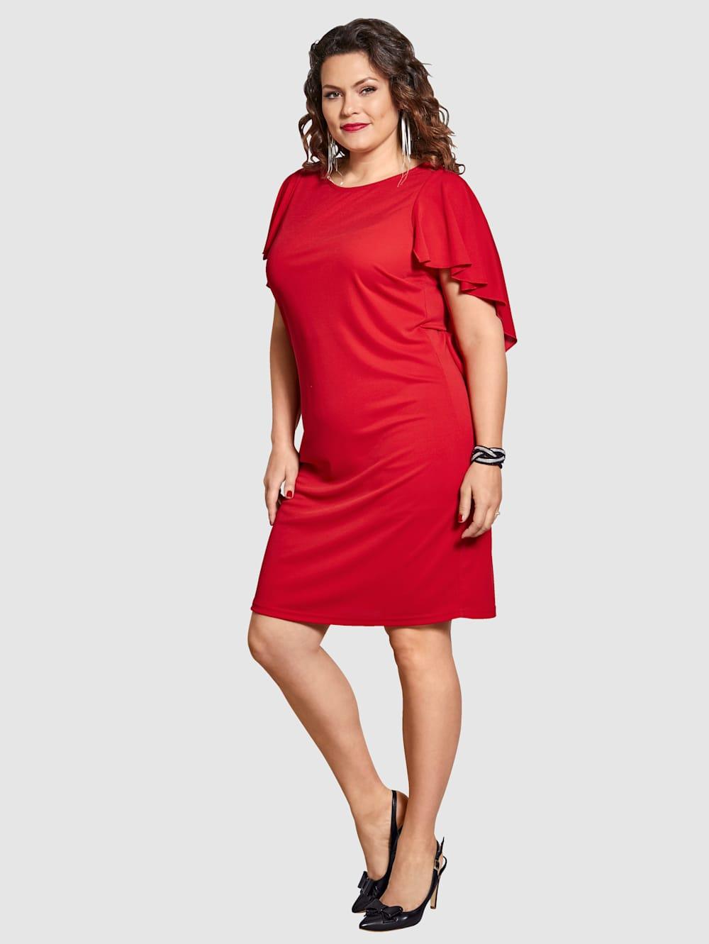 Sara Lindholm Jersey-Kleid mit Volants | Klingel