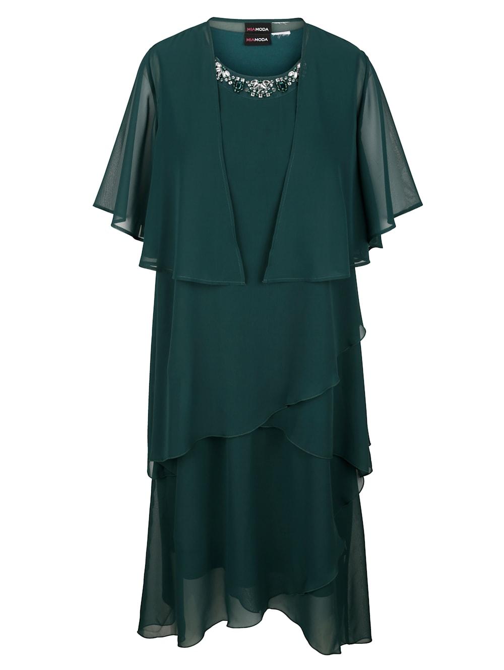 MIAMODA Bolero und Kleid mit effektvollen Abstufungen  Mia Moda