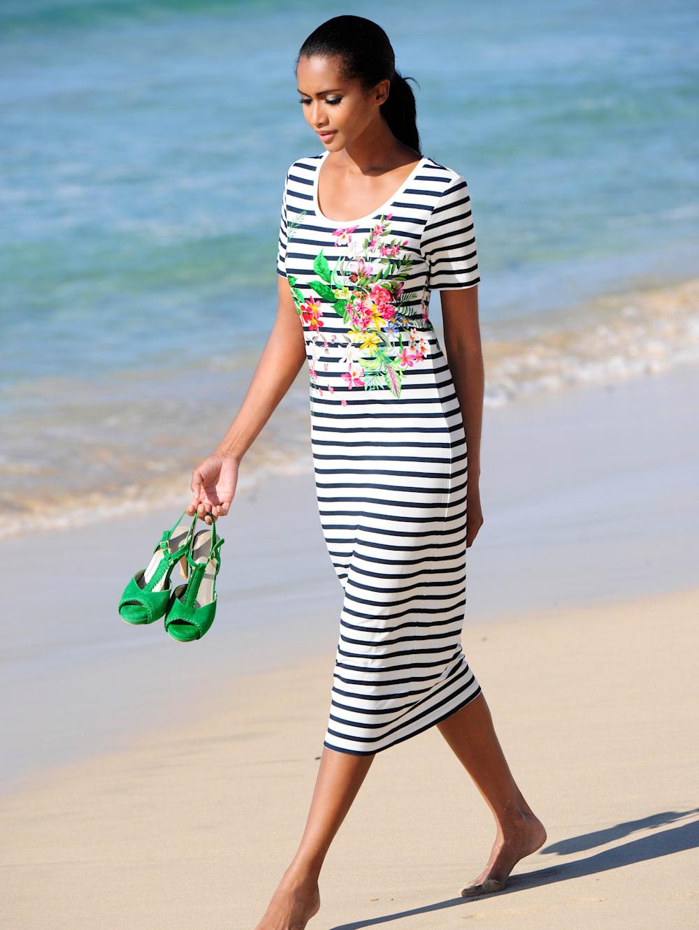 alba moda strandkleid mit streifen | wenz