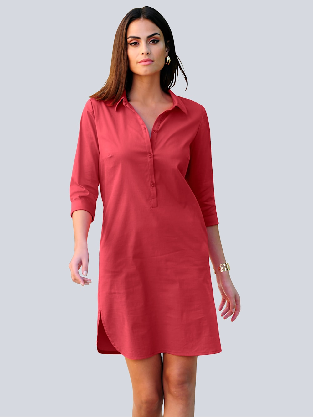 Alba Moda Hemdblusenkleid mit dreiviertel Ärmel  Alba Moda