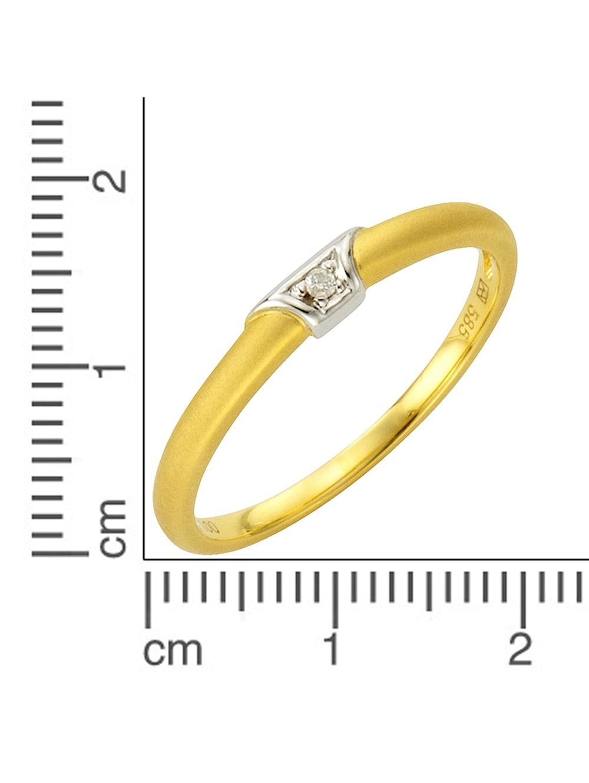 Fascination by Ellen K Ring 585 14K Gold diamantiert poliert 5mm Struktur Damen