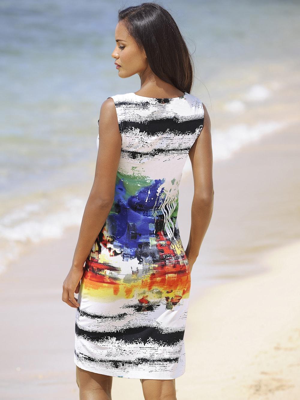 alba moda druckkleid in gemäldeoptik | klingel