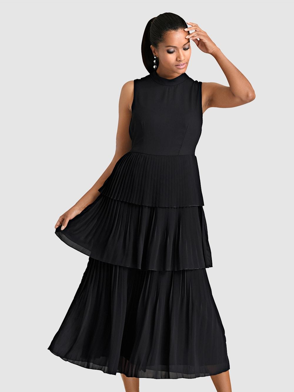 Alba Moda Kleid in Chiffon-Lagen gearbeitet  Klingel