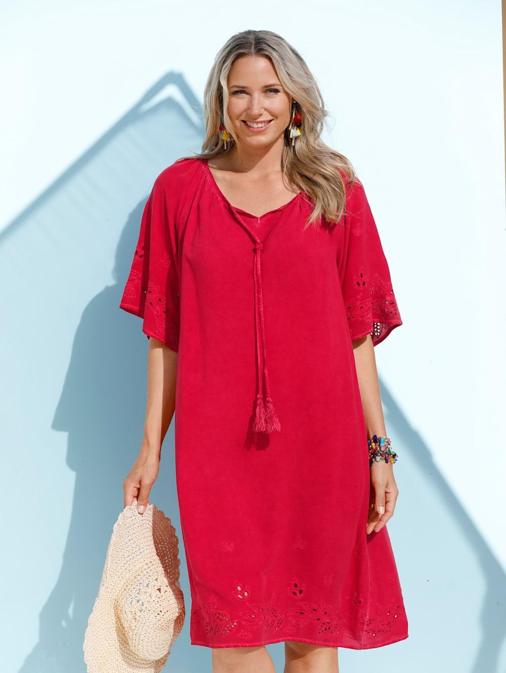 MIAMODA Kleid in angesagtem Oil-Washed-Effekt  Mia Moda