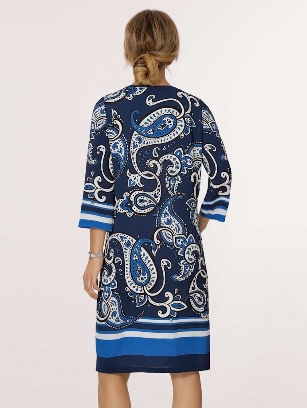 mona kleid mit platziertem paisley-druck | klingel