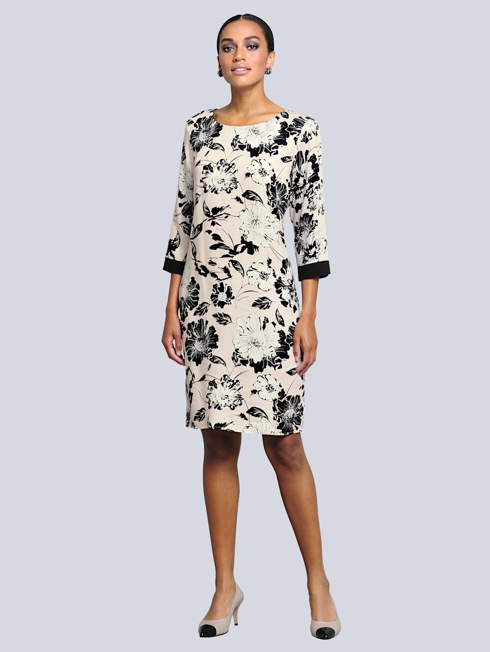 Alba Moda Kleid mit wunderschönem Blumendruck   Klingel