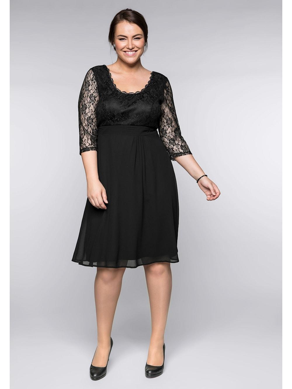Sheego Sheego Kleid mit leicht ausgestelltem Rock  Klingel
