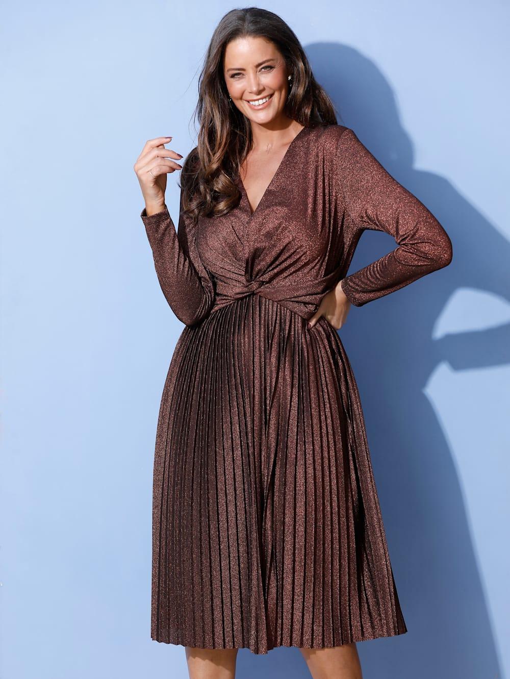 miamoda kleid mit effektvoller drappierung in der taille   mia moda