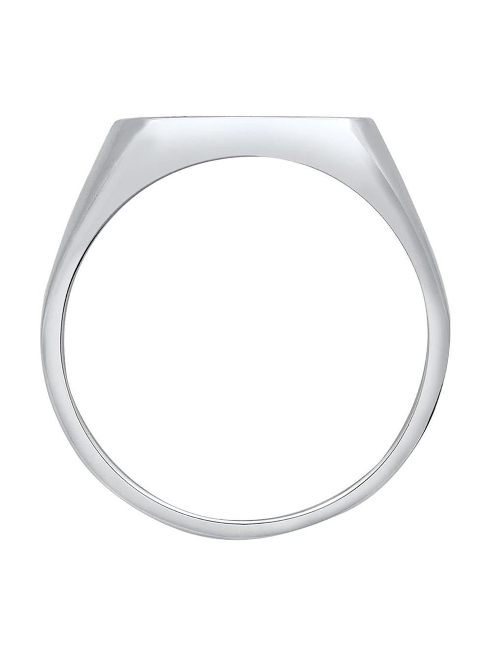 Kuzzoi Ring Herren Siegelring Emaille Logo Basic 925 Silber | Klingel