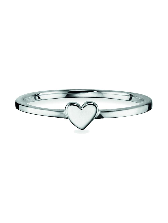 CAI Ring 925 Sterling Silber ohne Stein rhodiniert 925 Sterling Silber   Klingel