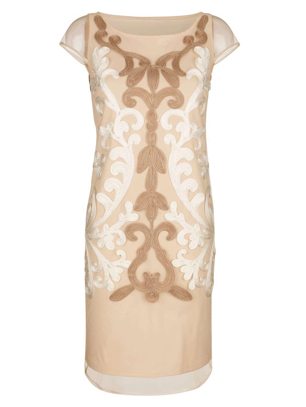 alba moda kleid mit eleganter kurbelsticker   alba moda