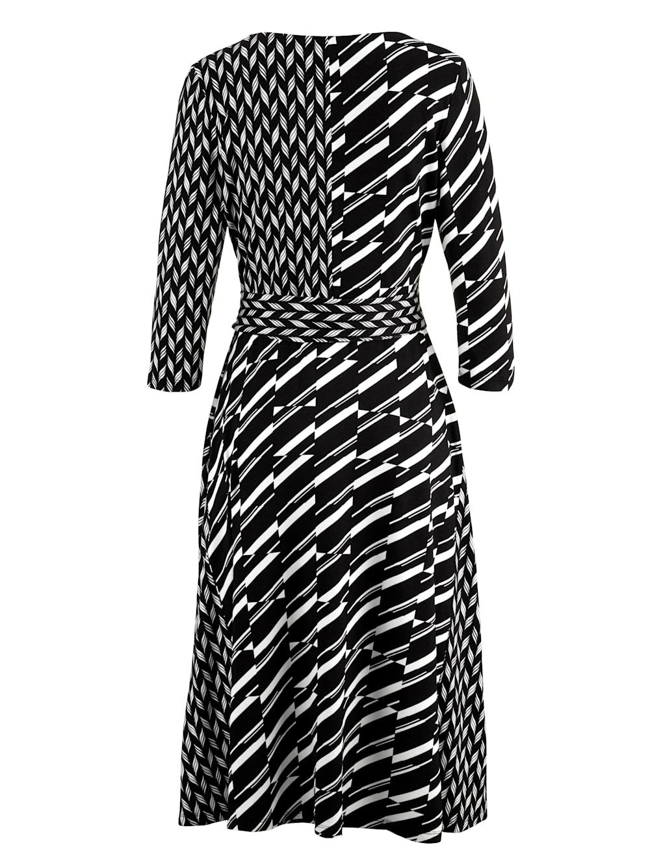alba moda kleid mit femininem wickelausschnitt | klingel