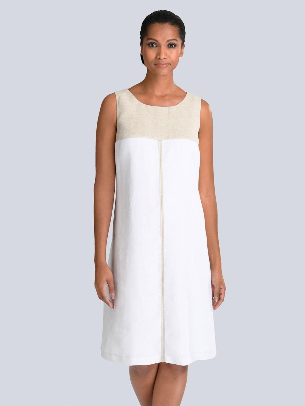 alba moda kleid aus edlem leinen | alba moda