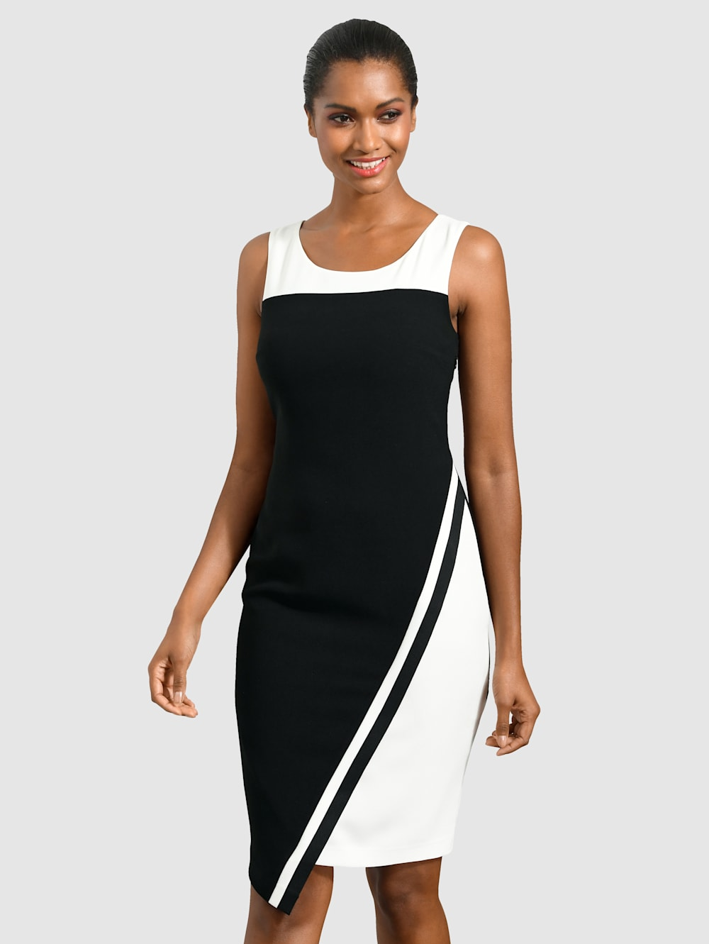 alba moda kleid mit asymetrischem saum | klingel