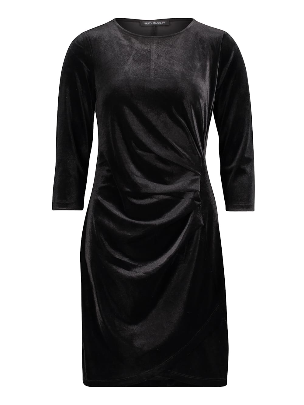 betty barclay samtkleid in schwarz | wenz
