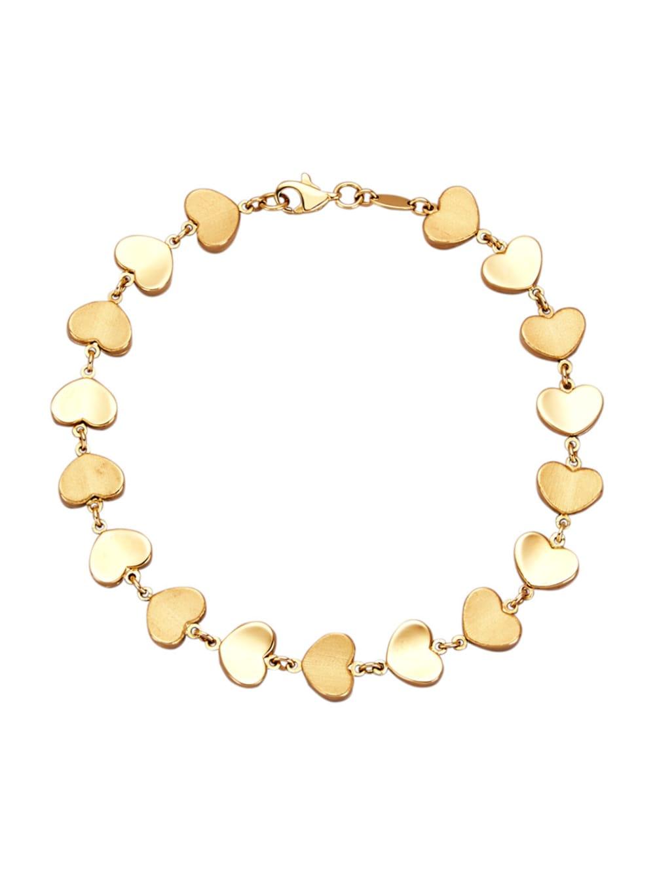 Diemer Gold Herzen Armband | Klingel