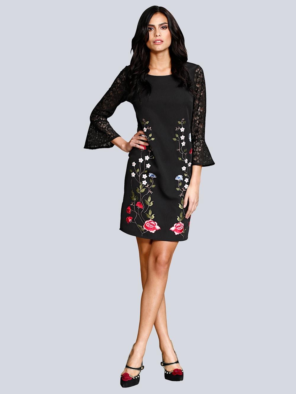 Alba Moda Kleid mit filigraner Blumen-Stickerei | Wenz