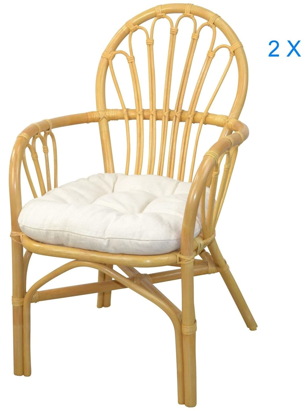 Möbel Direkt Online Rattansessel (2Stück) mit Kissen Conny | Klingel