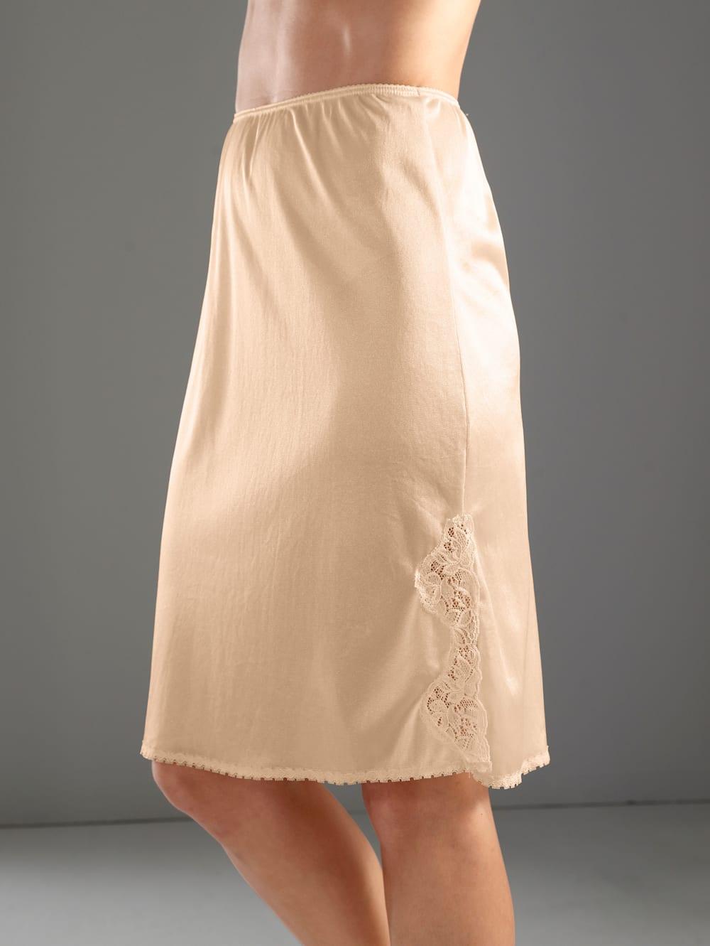 atmungsaktiv und antistatisch gestrickt Antamaca Damen Unterrock aus Maulbeerseide tailliert