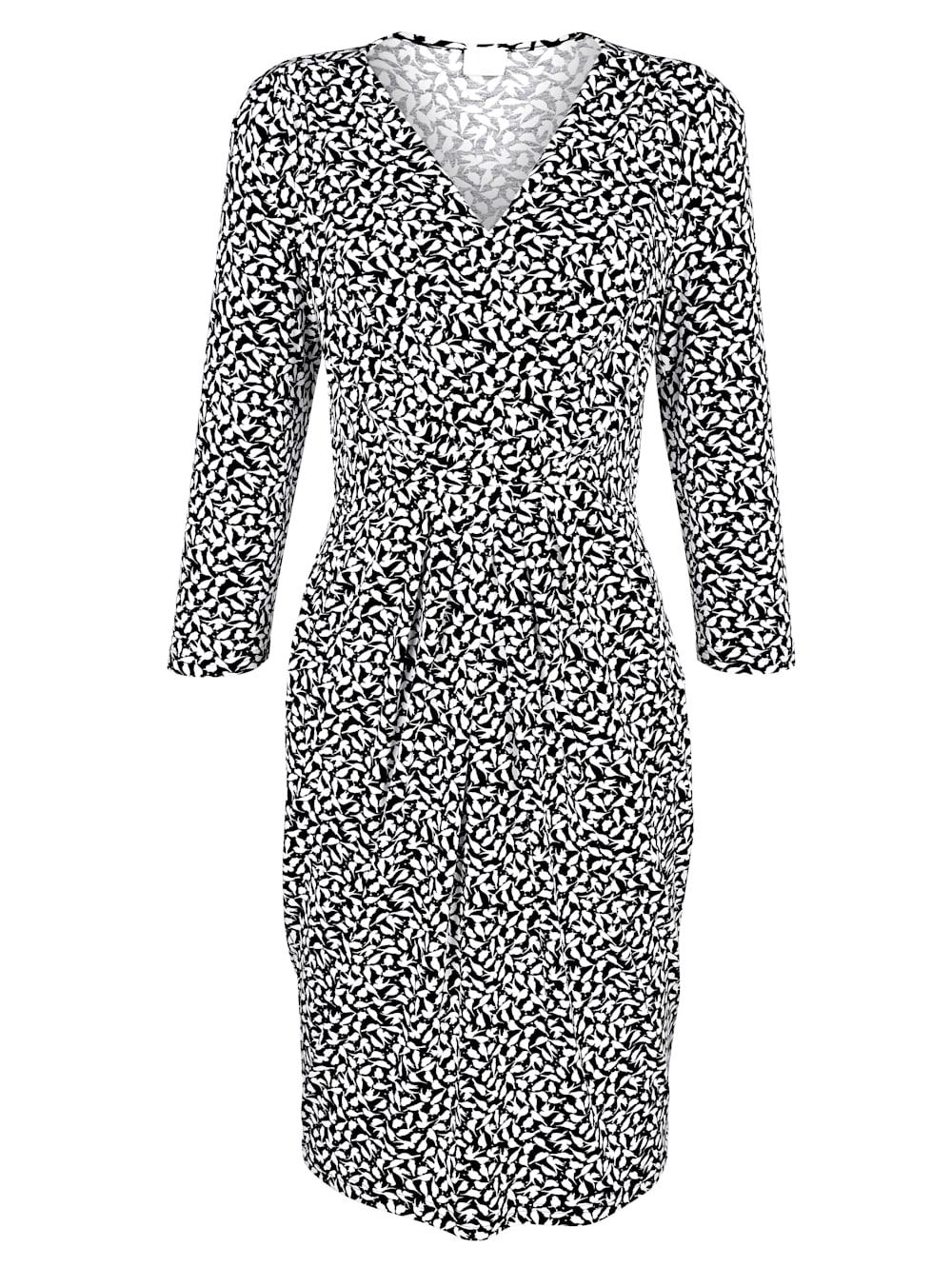 alba moda kleid mit schwalben-print | alba moda