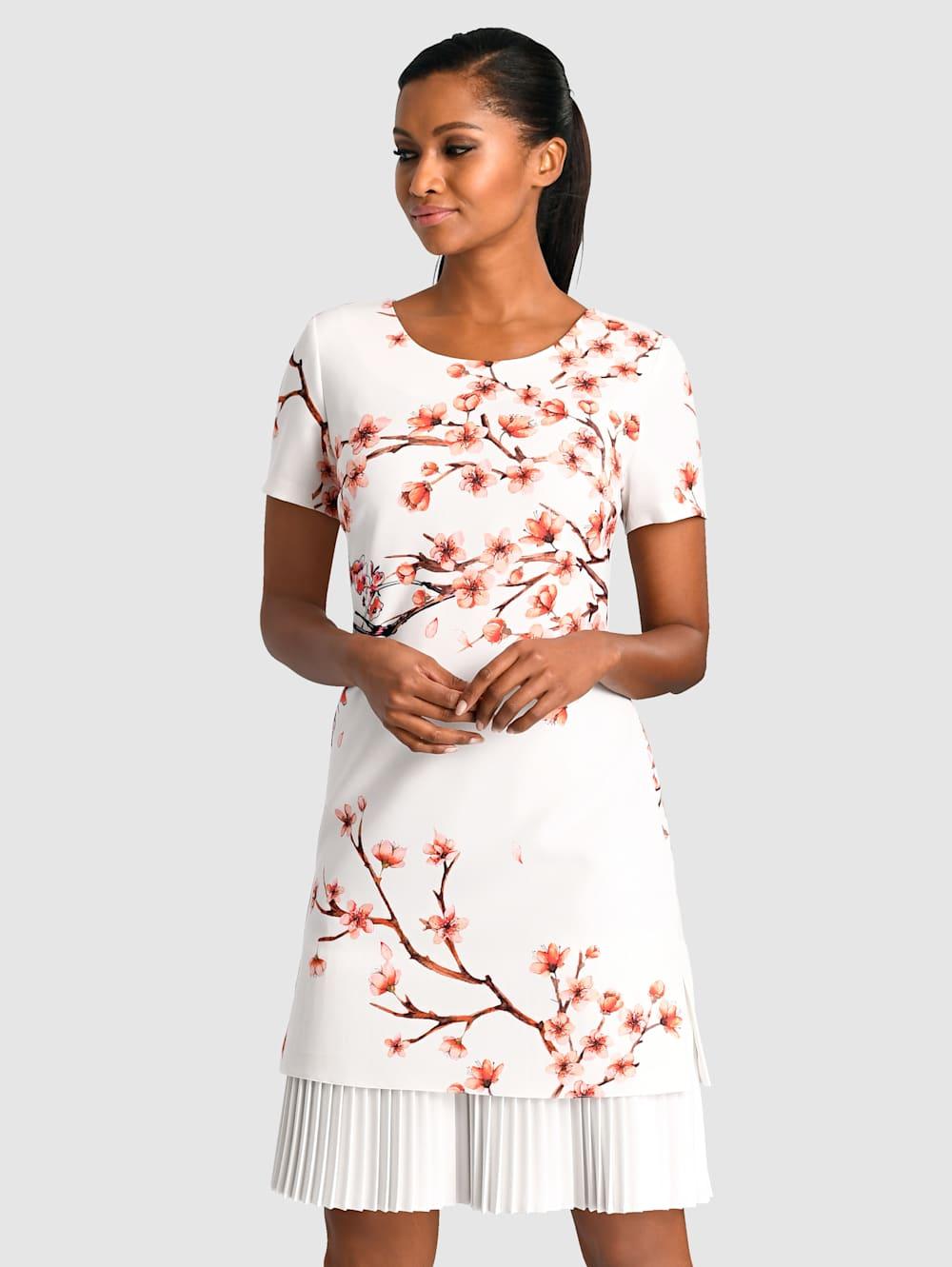 alba moda kleid mit wunderschönem blumendruck | klingel