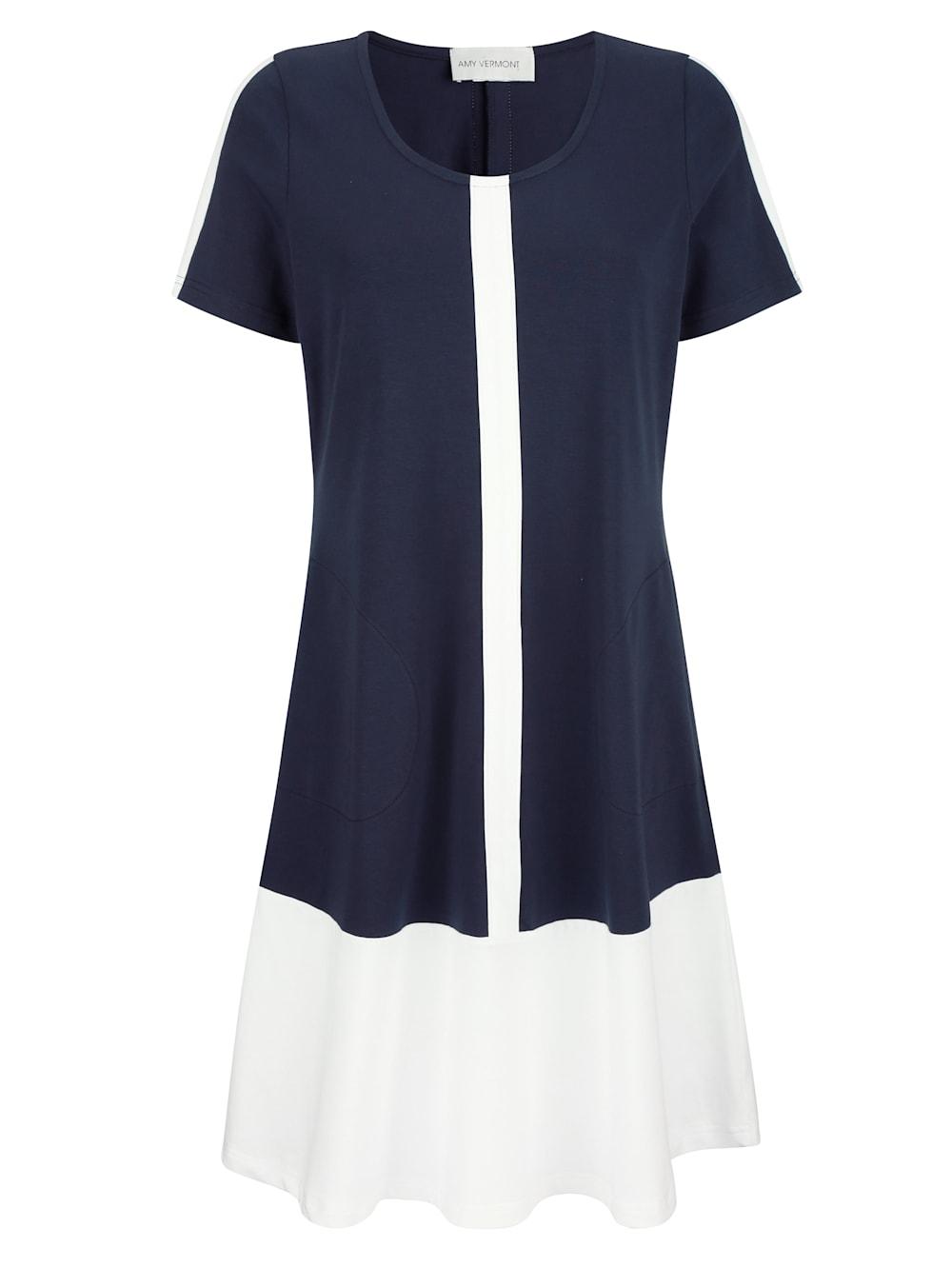 AMY VERMONT Jerseykleid mit Streifen in Kontrastfarbe ...
