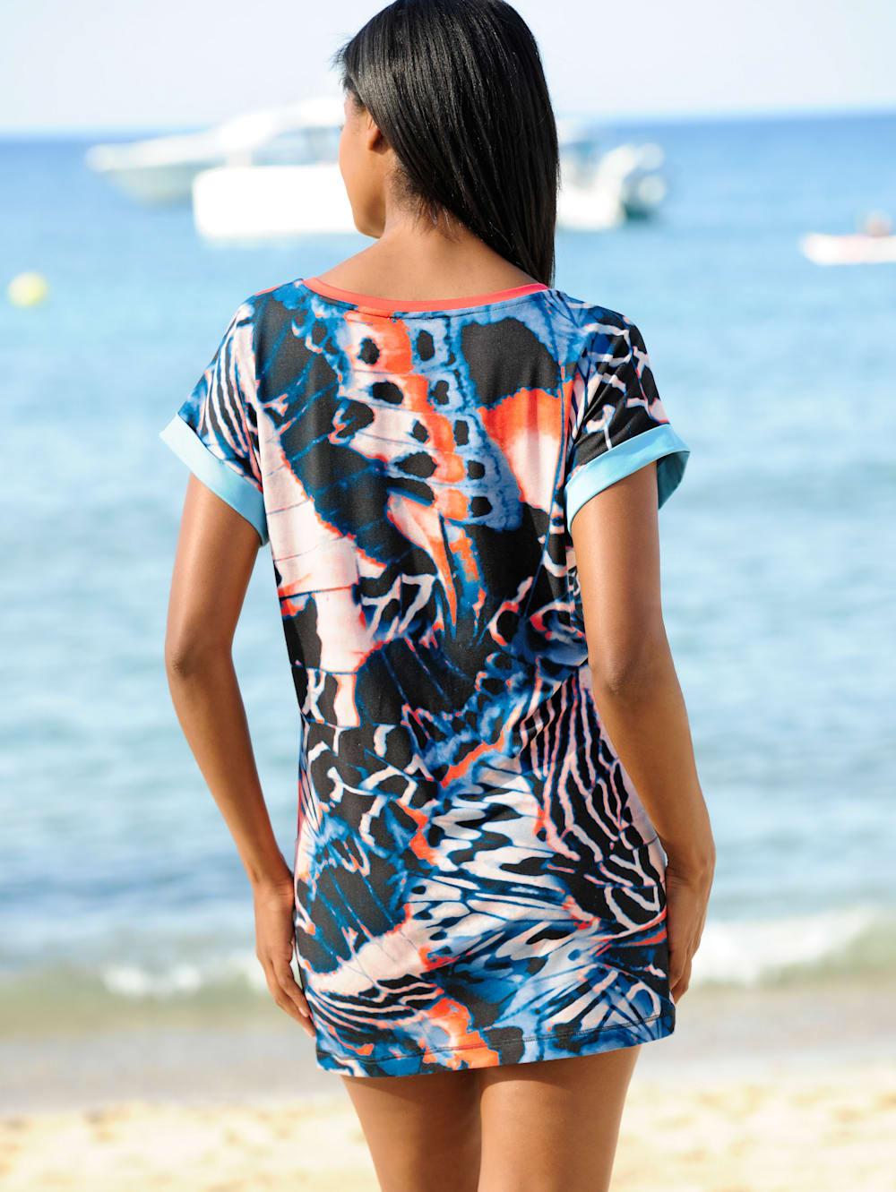 alba moda strandshirt mit farbigen blenden | wenz