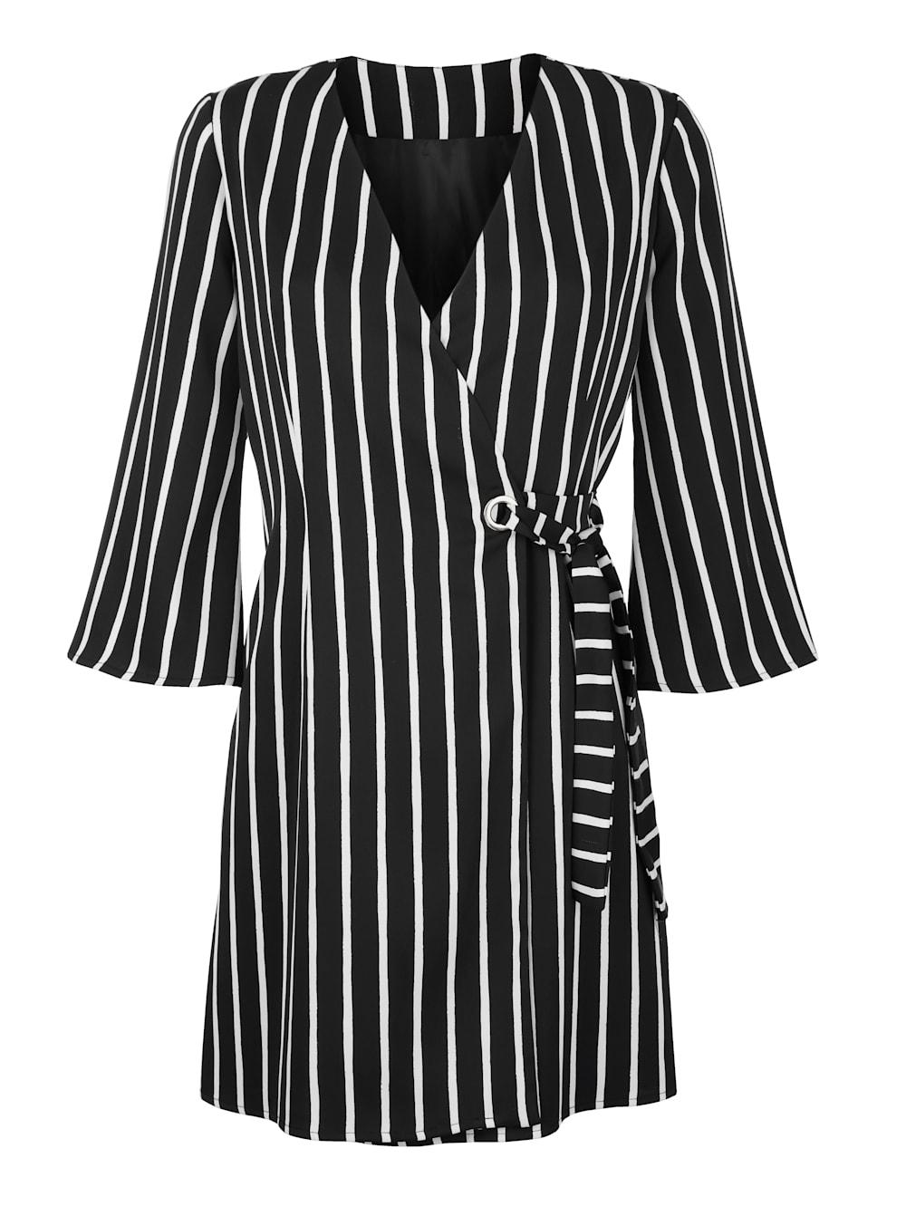 alba moda kleid im streifendessin allover | alba moda