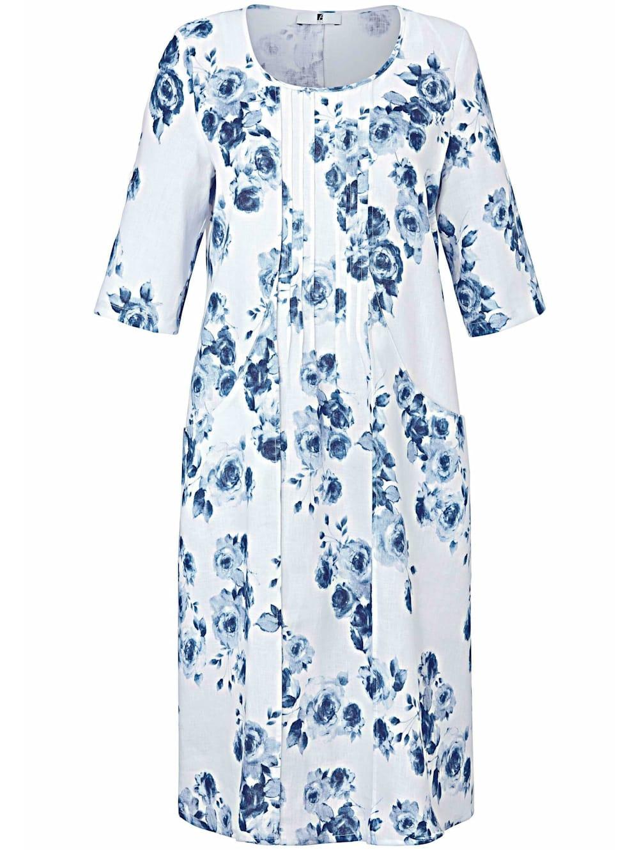 anna aura abendkleid kleid mit 3/4-arm aus 100% leinen | happy size