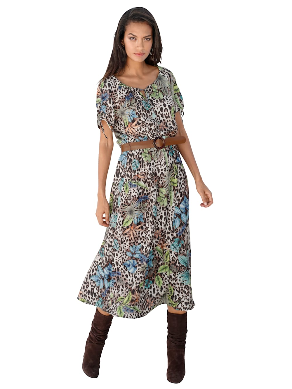 betty barclay kleid mit gürtel | wenz