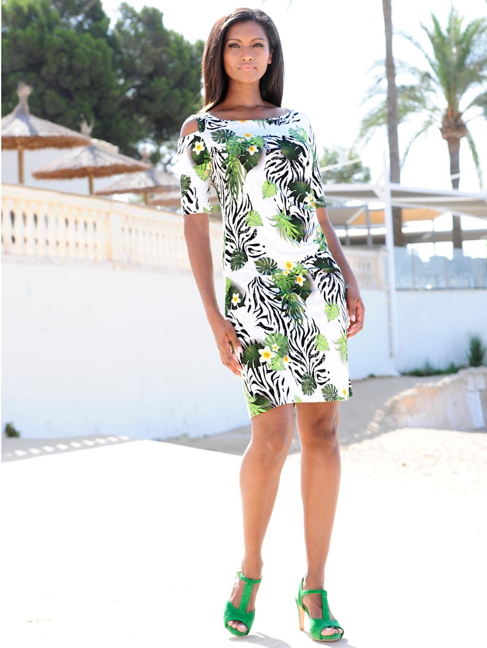 alba moda strandkleid im off-shoulder style | alba moda